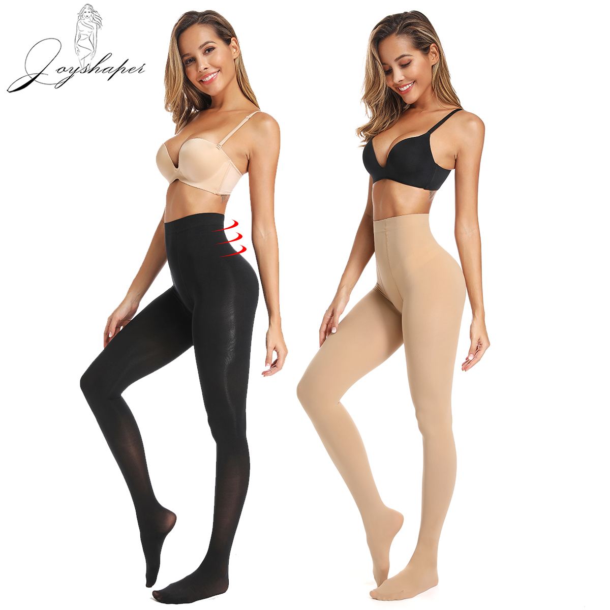 Joyshaper Sexy Stockings Pantyhose Women Lingerie Over Knee Tummy Control Thigh Slimming High Hosiery Opaque Tights Lingerie
