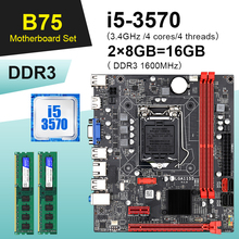 B75 Motherboards-Set Combo Lga 1155 I5 3570 Ddr3 Desktop with Quad-Core Cpu And 2--8gb