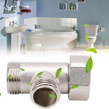 купить 7/8 Brass T Adapter Shower Head Diverter Valve Three Connector Valves For Toilet Shower Head valve дешево