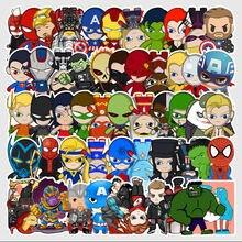 54 неповторяющиеся наклейки с героями мультфильмов Капитан Америка