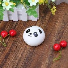 Сжимаемый панда булочка мяч для снятия напряжения медленно растет