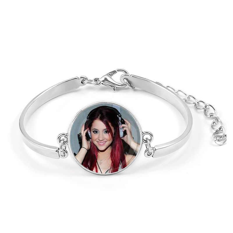 Ariana grande Sem Lágrimas para Chorar Pulseira Álbum de Canções Deus É uma Mulher Libertar Braslet Símbolo Emblema Para meninas Cuff Wrist Band