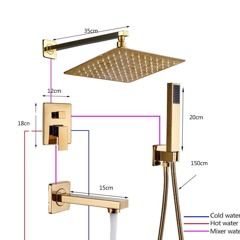 H4bb1b3253c704a3786ec97104a677c972 Shinesia Luxury Golden Modern Concealed Shower Faucet Set Hot Cold Water Mixer Value Brass 1 way 2 way 3way Mixer Bathroom Crane