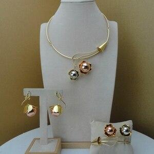 Yuminglai Italian Designer Jewelry Dubai 24K Gold Jewlery Exquisite Jewelry Sets FHK8518