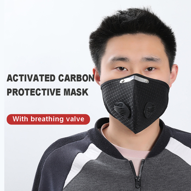 1Pcs Cycling PM2.5 Mouth Mask Activated Carbon Filter Masks Replaceable Filter Antibacterial Dustproof 5-Layers Filters Anti-flu 1