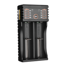 Fast Charging Batteries Charger 2Slot USB Battery Charger for LiitoKala Lii-202 Li-ion 18650 18490 18350 17670 17500 Batteries liitokala lii 202 usb battery charger