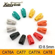 Xintylink rj45 caps cat6a cat7 cat8 rg rj 45 connettori per cavi ethernet di rete cat7a cat.6 cat.7 stivali guaina spina boccola 8.5mm