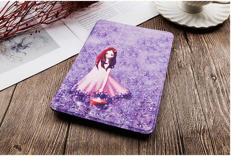 8th For For leather iPad inch Flip Gen Painted QIJUN 2020 Cover 10.2 Stand Case PU iPad