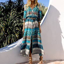 Beach Women Long Dress Summer Hawaii Vocation Maxi