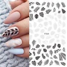 3d adesivos a laser linhas simples preto branco folhas de ouro para unhas design unhas envolve etiqueta arte decorações transferência decalque