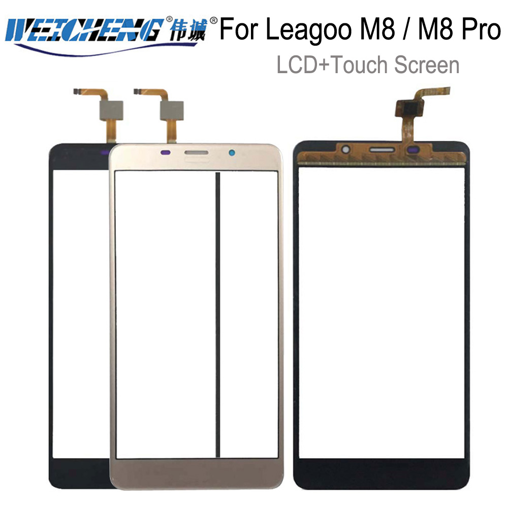 5.7 inch Mobile Phone Touchscreen For <font><b>Leagoo</b></font> <font><b>M8</b></font> / <font><b>M8</b></font> <font><b>Pro</b></font> Touch Screen Glass Digitizer Panel Lens Sensor Glass image