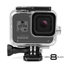 Vamson สำหรับ GoPro 8 สีดำสำหรับอุปกรณ์ GoPro กันน้ำดำน้ำสำหรับ GoPro HERO 8 กล้อง VP651
