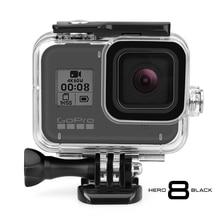 Vamson für GoPro 8 Schwarz für GoPro Zubehör Wasserdichte Gehäuse Fall Tauchen Schutz für GoPro Hero 8 Action Kamera VP651