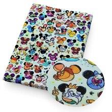 50*140 см полиэстер, хлопок, ткань с мультяшным принтом, Лоскутная Ткань для детской ткани, домашний текстиль для шитья кукольных материалов, c8764