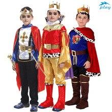 SATCOPY König mit Mantel Gürtel Prinz König Crown Cosplay Kostüm Geburtstag Party Geschenk Kinder Jungen Halloween Weihnachten Cosplay
