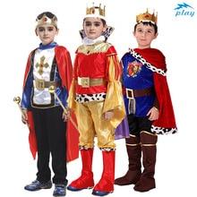 SATCOPY Vua Với Áo Choàng Dây Hoàng Tử Vua Thái Trang Phục Hóa Trang Sinh Nhật Tặng Trẻ Em Bé Trai Halloween Giáng Sinh Cosplay