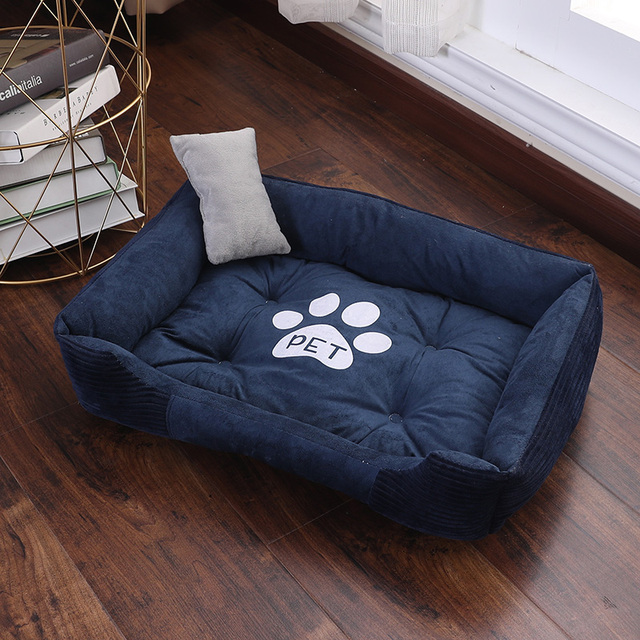 CANILE Soft Pet Bed For Dogs Washable House For Cat Puppy Cotton Kennel Mat Pet Bed Warm Pet Products For Small Medium Large Dog 2