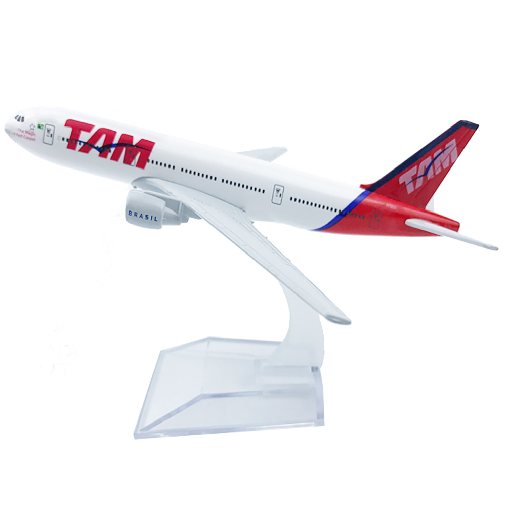 1/400 Scale Alloy Aircraft Boeing 777 TAM Airlines 16cm Alloy Plane B777 Model Toys Children Kids Gift for Collection