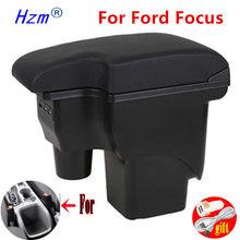 Para ford focus 2 caixa de apoio de braço mk2 acessórios do carro nanterior retrofit para ford focus mk2 centro caixa de armazenamento caixa de braço do carro usb