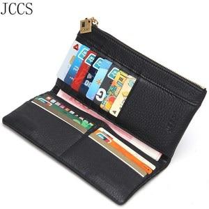 JCCS дизайнерский складной кошелек из натуральной кожи, Женский кошелек известного бренда, модный кошелек, Дамский роскошный длинный кошелек...