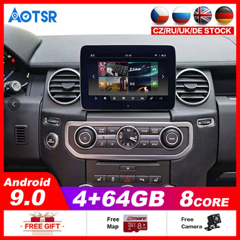 AOTSR 4+64G Android 9 Tesla Car dvd player GPS Navigation For Land Rover Range Sport Discovery 4 L320 2009~2013 head unit radio