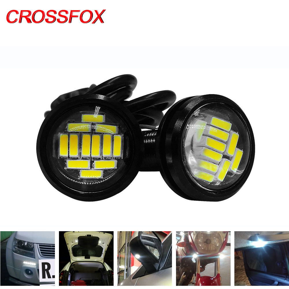 2PCS Eagle Eye Car Light Assembly Vehicle DRL  LED Daytime Running Lights Backup White Parking Signal Lamp Universal Accessories