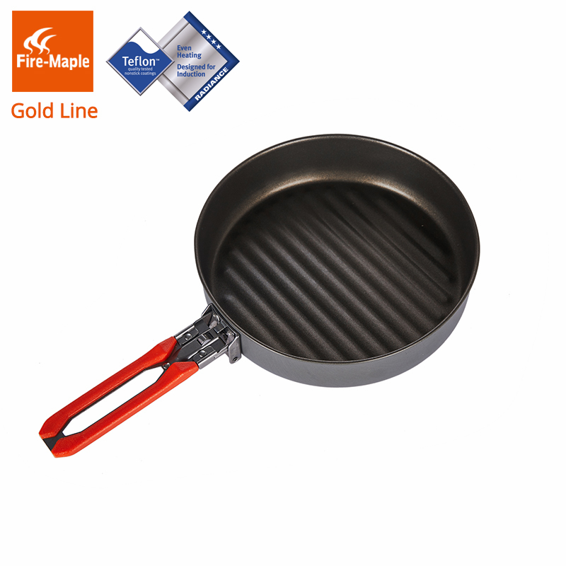 Fire Maple Gold Line Teflon Coating Non-stick Frying Pan For Camping Hiking