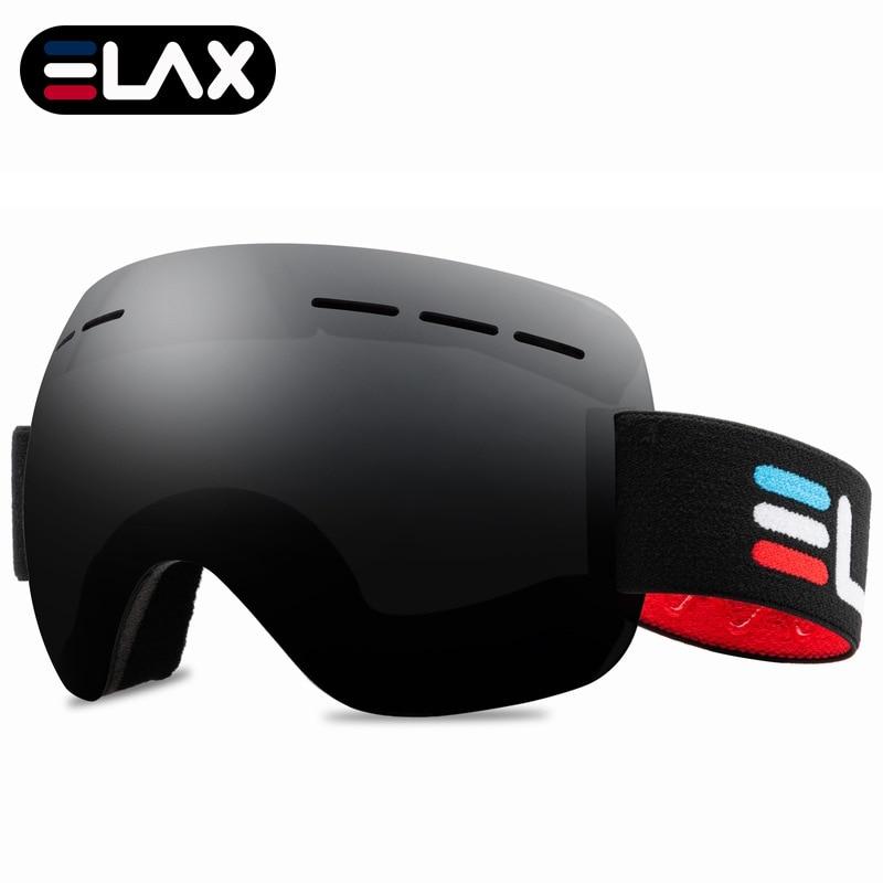 Elax bran óculos de esqui neve snowboard grande máscara de esqui óculos de inverno dos homens das mulheres snowmobile eyewear esportes de esqui googles