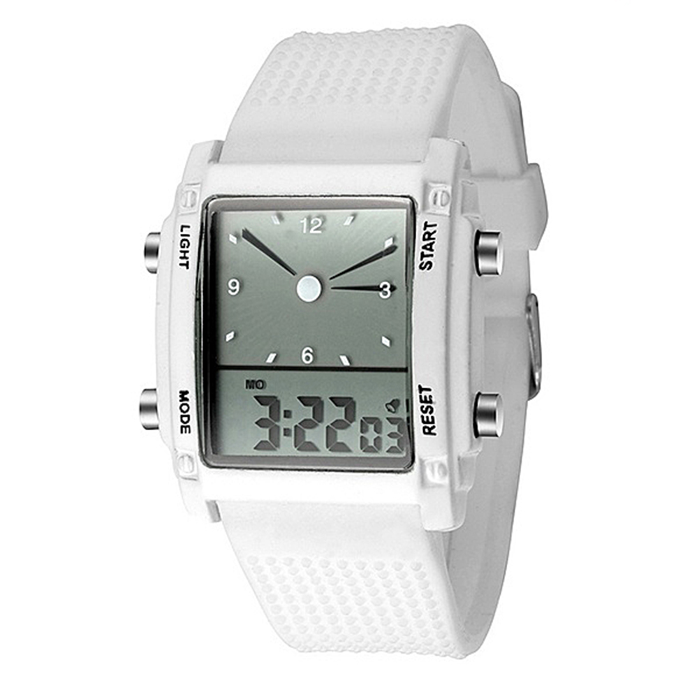 Unisex Watch Waterproof Dual Display LCD Alarm&Chronograph Sport Watch/Digital Wrist Watch/Women Quartz Watches/Men Watch Gifts