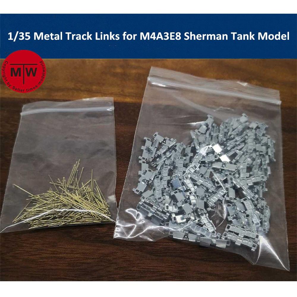 SANXIN M4A3E8 1//35 Metal Track Links for M4A3E8 Sherman Tank Model w//metal pin