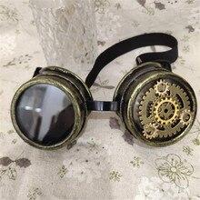 Одежда высшего качества Винтаж в готическом стиле, Стиль стимпанк панк-очки унисекс Косплэй Хэллоуин вечерние Опора очки ручной работы