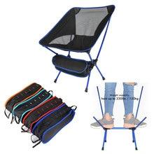 נסיעות חיצוני מתקפל כיסא Ultralight באיכות גבוהה חיצוני קמפינג כיסא החוף נייד טיולים פיקניק מושב דיג כלים כיסא