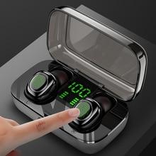 TWS 5,0 Bluetooth наушники с сенсорным управлением, беспроводные наушники с громкой связью, Hi-Fi стерео беспроводные наушники, гарнитура с микрофоном