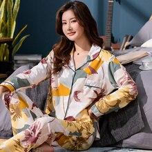 Brand Women Pajamas Sets Animal Print Large Size Lady Sleepwear Womens Pijamas Suit Home Clothes Pyjama Femme M L XL XXL XXXL
