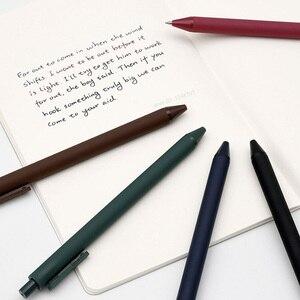 Image 4 - 5 adet/paket Youpin KACO 0.5mm işareti kalem imza kalem pürüzsüz mürekkep yazma dayanıklı İmza 5 renk öğrenci okul/Ofis çalışanı