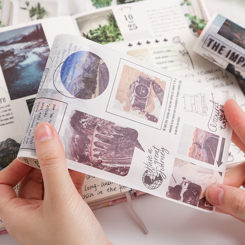 Travelling Washi Tape DIY Scrapbooking Sticker Label Masking Tape School Office Supply