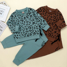 baby girl clothes Leopard Print T-Shirt Sweater Coat Tops Pa