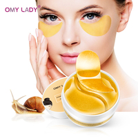 OMY DAME 60PCS Kristall Gold Collage Eye Patch Maske Kollagen Gegen Falten Augenringe Pflege Augen Taschen Pads Ageless hydrogel