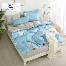 Liv-Esthete Decor Home Textiles Bedding Set Bedspread Flat Sheet Luxury Comforter Cover Adult Bed Linen Double Duvet