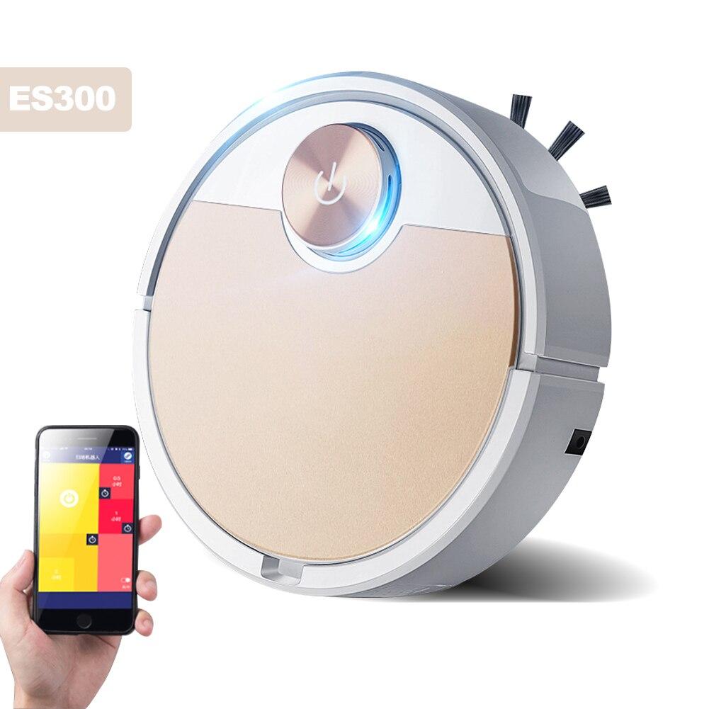 Aspiradora Robot inteligente para el hogar ES300, aspiradora para teléfono móvil con aplicación de Control remoto, barredora automática de eliminación y esterilización de polvo|Aspiradoras|   - AliExpress