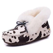 «Женские ботинки с овечьим мехом водонепроницаемые теплые на