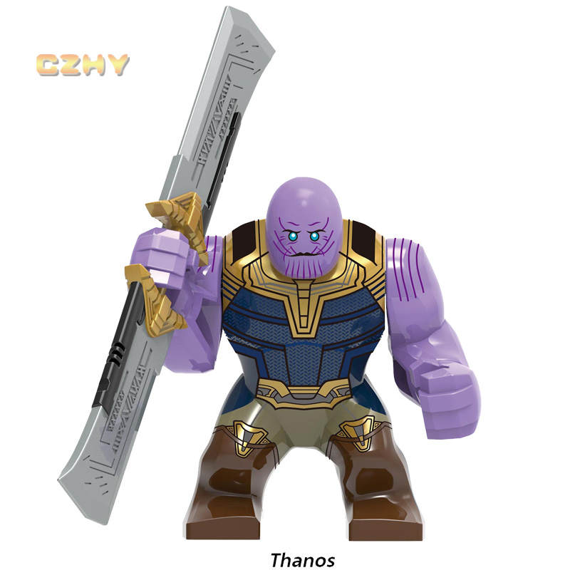 Big Size Legoeinglys Thanos Hulk Super Heroes Avengers 4 Infinity MINIFIGURED Bricks Building Blocks Collection Toy Gift XH1259
