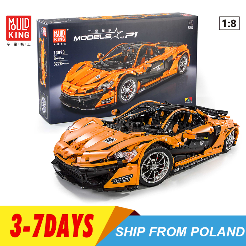 Lepinblocks 13090 Technic Series McLaren P1 Orange Racing Car Set APP RC Model Building Blocks Power Motor Function Toys 20087