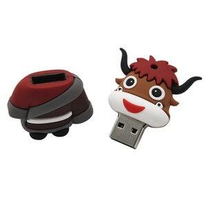 Image 3 - Wyślij mi wiadomość nowy nodel cartoon głowa diabeł syrenka dziecko pendrive 4GB 8GB 16GB 32GB 64GB bride groom pen drive pamięć usb