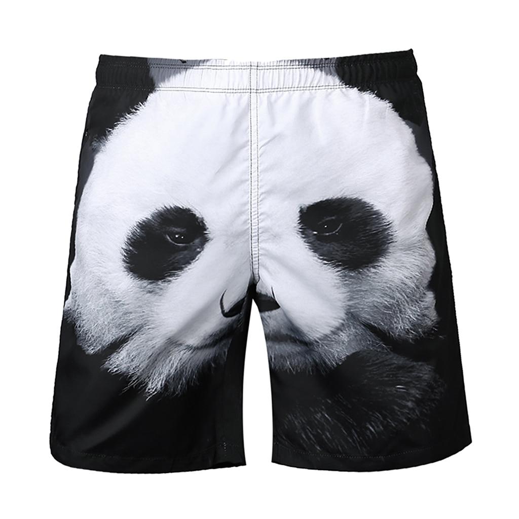 Funny Men's 3D Print Panda Surf Board Beach Shorts Quick Dry Leisure Swim Wear Pool Water Sports Trunks Pants S-2XL