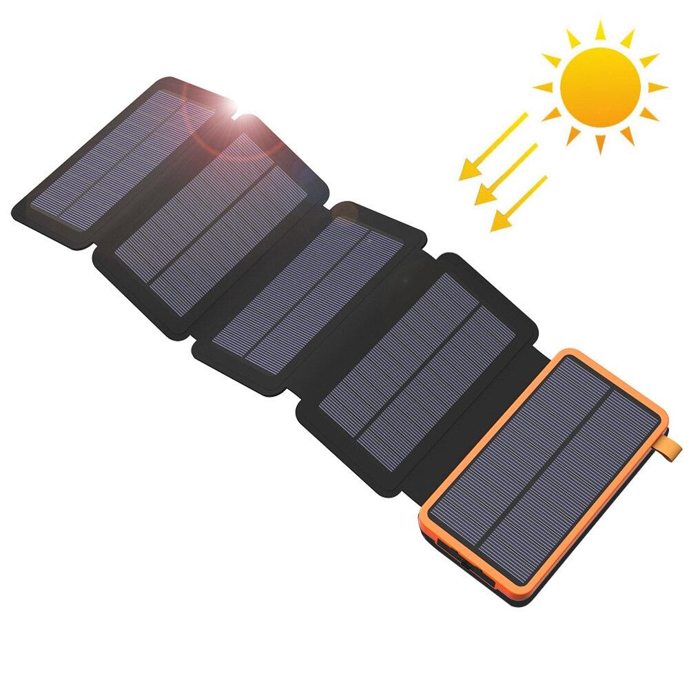 Power Bank Solar Power Bank Waterproof Phone External Battery Dual USB for Huawei iPhone Samsung iPad Xiaomi Sony Nokia Xiaomi