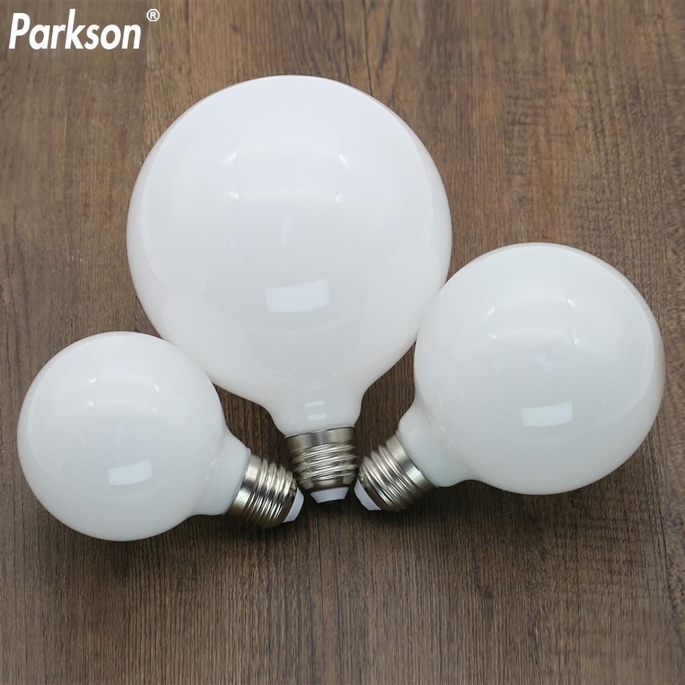 Milky E27 LED Light Bulb AC 220V 110V G80 G95 G125 Ampoule Bombilla LED Bulb Lamp For Home Chandelier Table Lamp Lampada