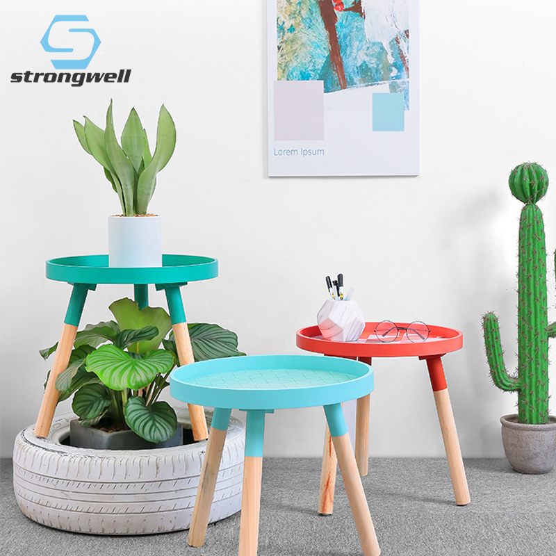 Strongwell Nordic Small Fresh Mini Coffee Tables Coffee Table Cafe Table Basse Wood Low Table Round Tables Room Home Decorations