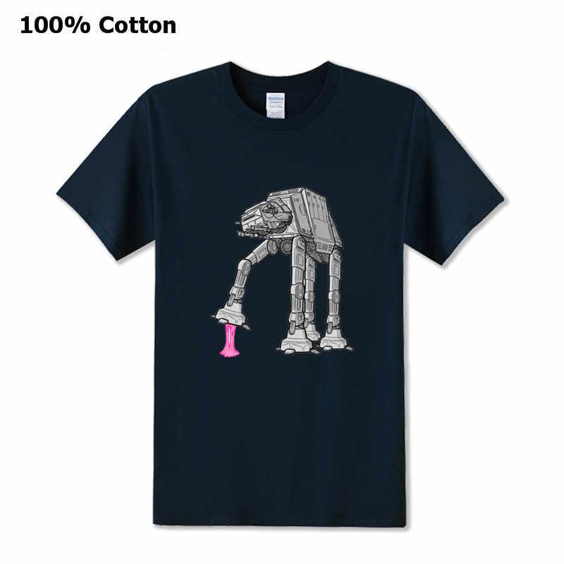 Vintage Bintang Alien Lengan Pendek T-shirt Pria Retro Wars Jedi Pemberontak Karet Robot Tshirt Baru Fashion Classic 80 S Film penggemar TEE SHIRT