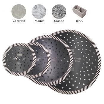 цена на DT-DIATOOL 1pc Diamond Narrow Turbo Saw Blade Multi Holes diamond Cutting Disc for Granite Marble Masonry Cutting Wheel